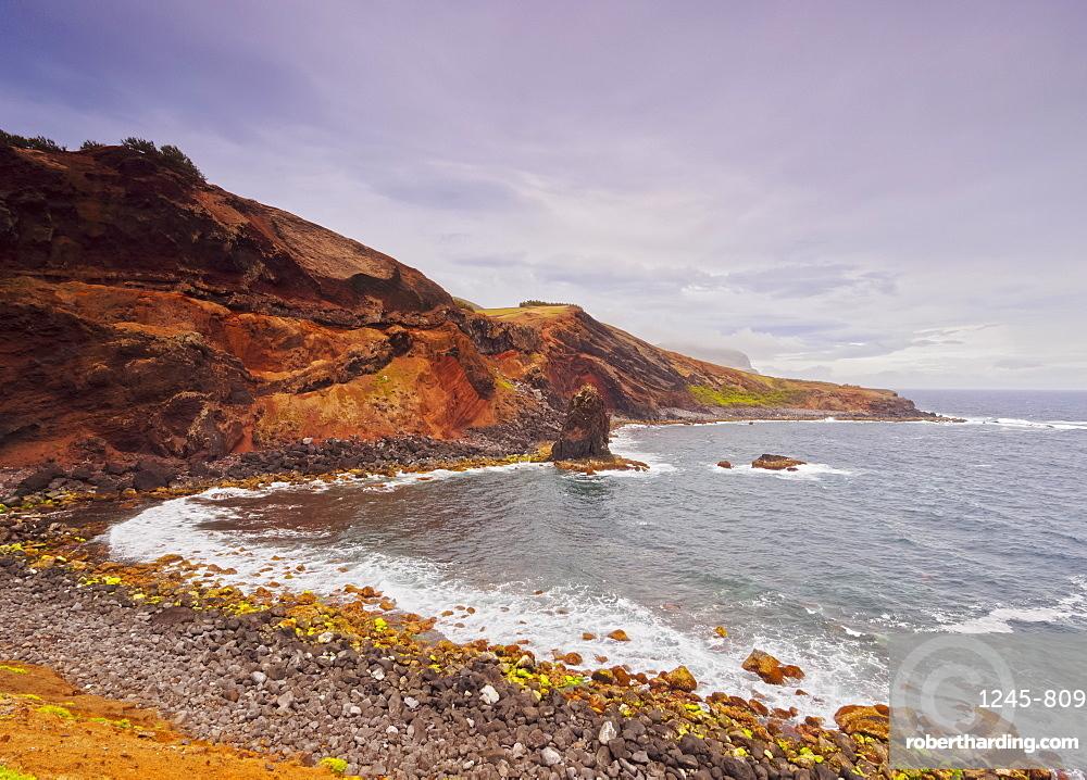 Coast of Porto Afonso, Graciosa Island, Azores, Portugal