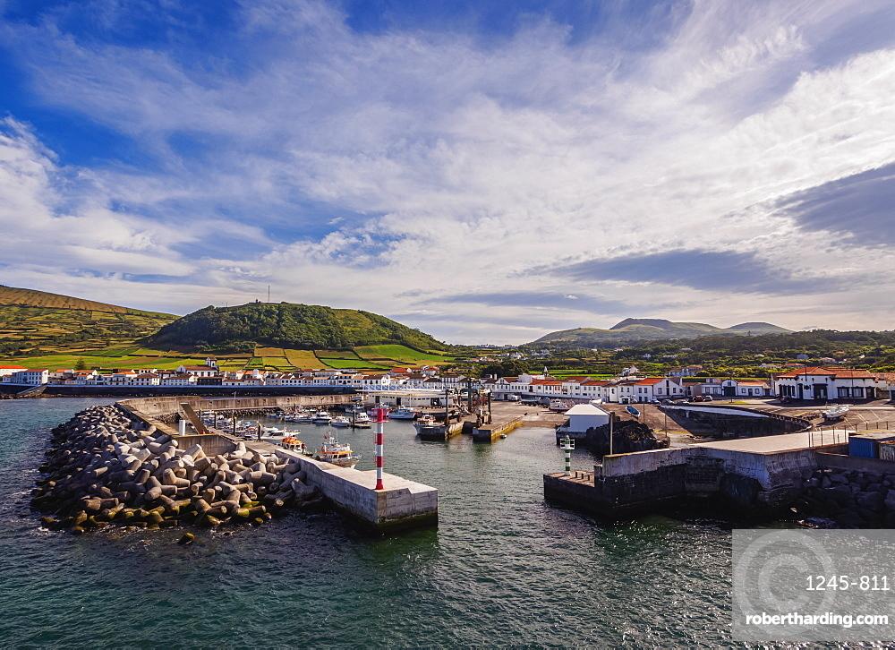 Port in Praia, Graciosa Island, Azores, Portugal