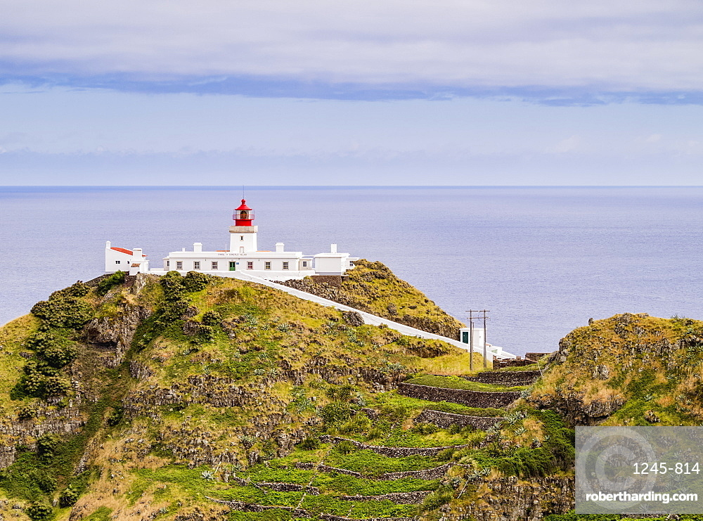 Lighthouse on Ponta do Castelo, Santa Maria Island, Azores, Portugal, Atlantic, Europe