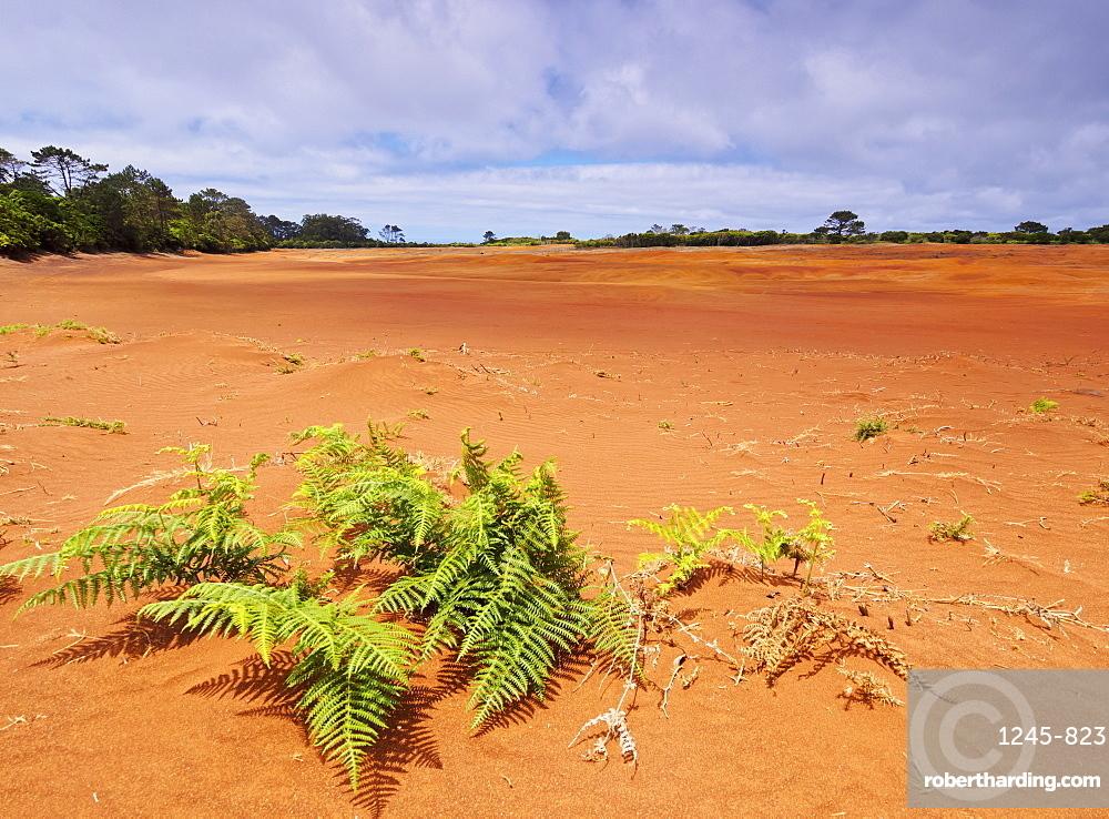 Barreiro da Faneca, Red Desert, Santa Maria Island, Azores, Portugal, Atlantic, Europe