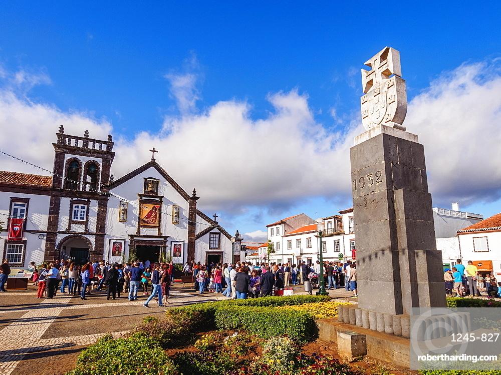 Convent of St. Francis and Church of Nossa Senhora das Vitorias, Vila do Porto, Santa Maria Island, Azores, Portugal, Atlantic, Europe