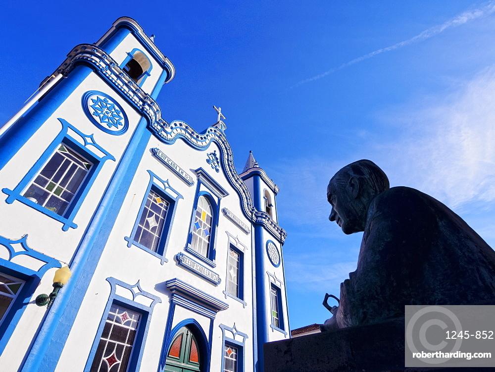 Santo Cristo Church, Praia da Vitoria, Terceira Island, Azores, Portugal, Atlantic, Europe