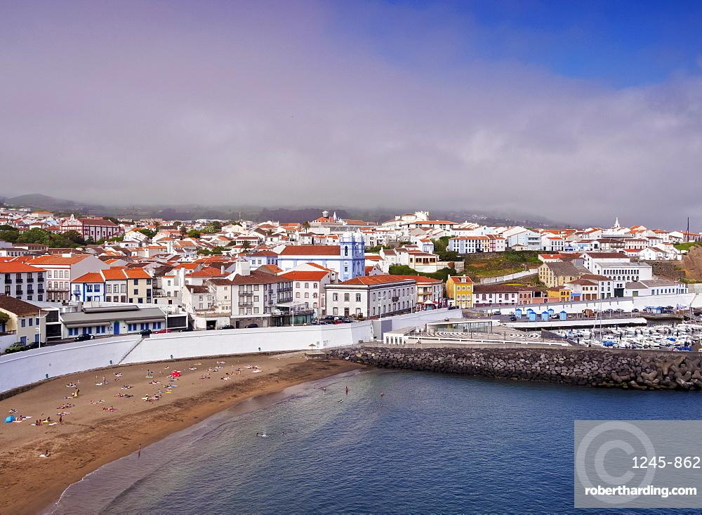 Angra do Heroismo, elevated view, Terceira Island, Azores, Portugal, Atlantic, Europe
