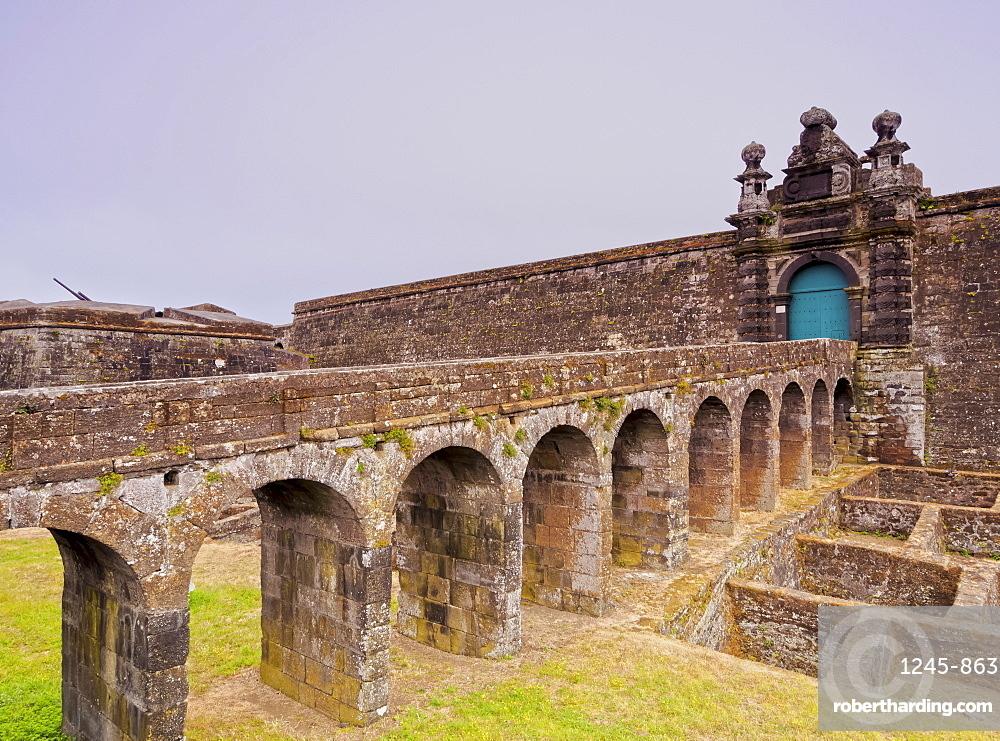 Castle of Sao Filipe - Sao Joao Baptista do Monte Brasil, Angra do Heroismo, Terceira Island, Azores, Portugal