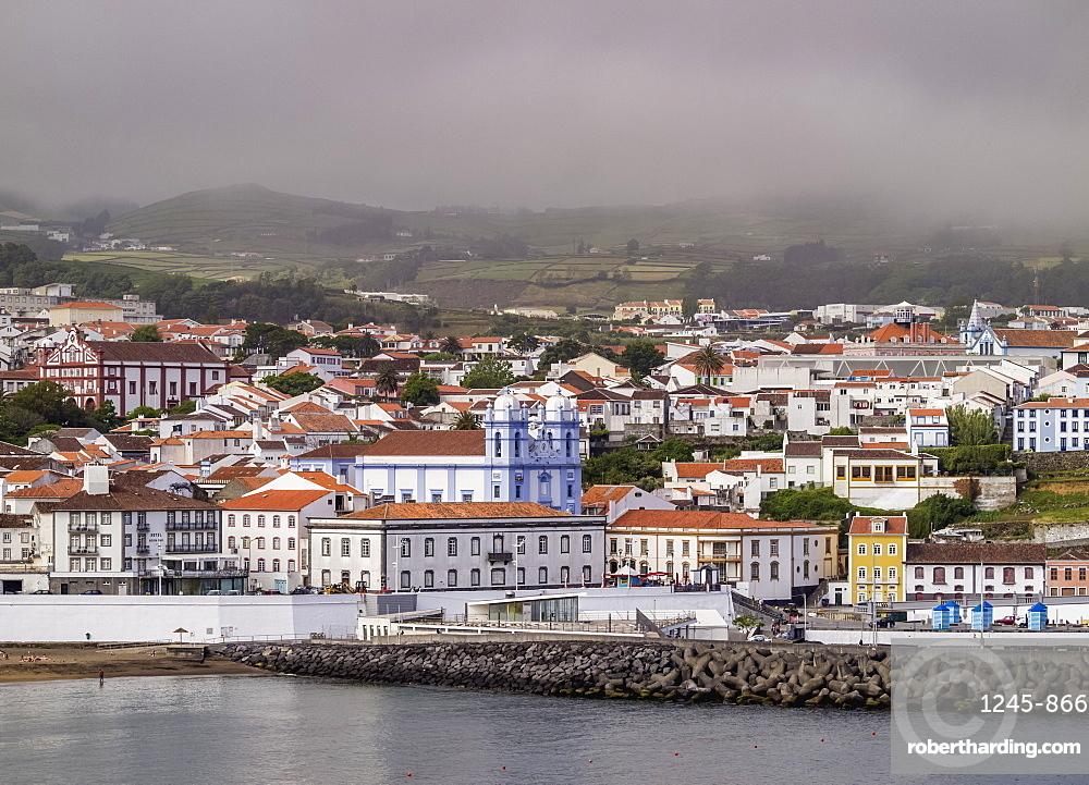 View towards the Misericordia Church, UNESCO World Heritage Site, Angra do Heroismo, Terceira Island, Azores, Portugal, Atlantic, Europe