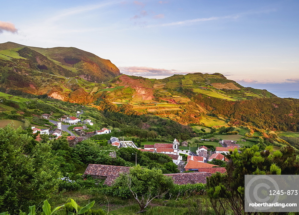 Lajedo, elevated view, Flores Island, Azores, Portugal, Atlantic, Europe