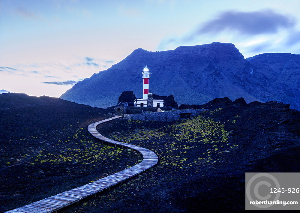 Faro de Teno, lighthouse, Punta de Teno, twilight, Tenerife Island, Canary Islands, Spain