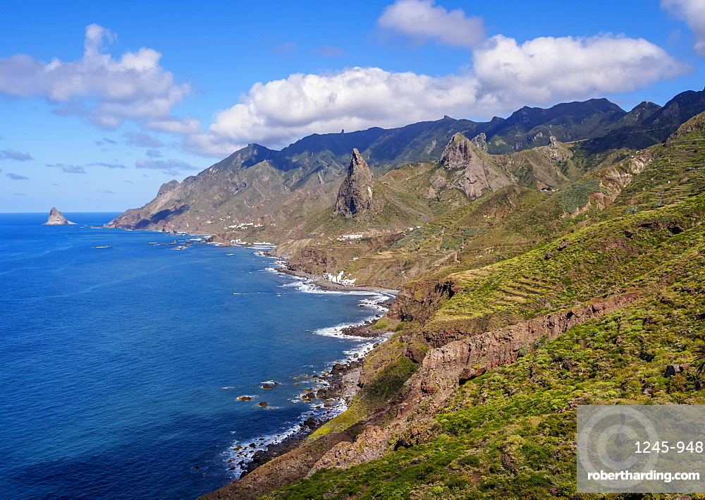 Landscape of the coast near Taganana, Anaga Rural Park, Tenerife Island, Canary Islands, Spain, Atlantic, Europe