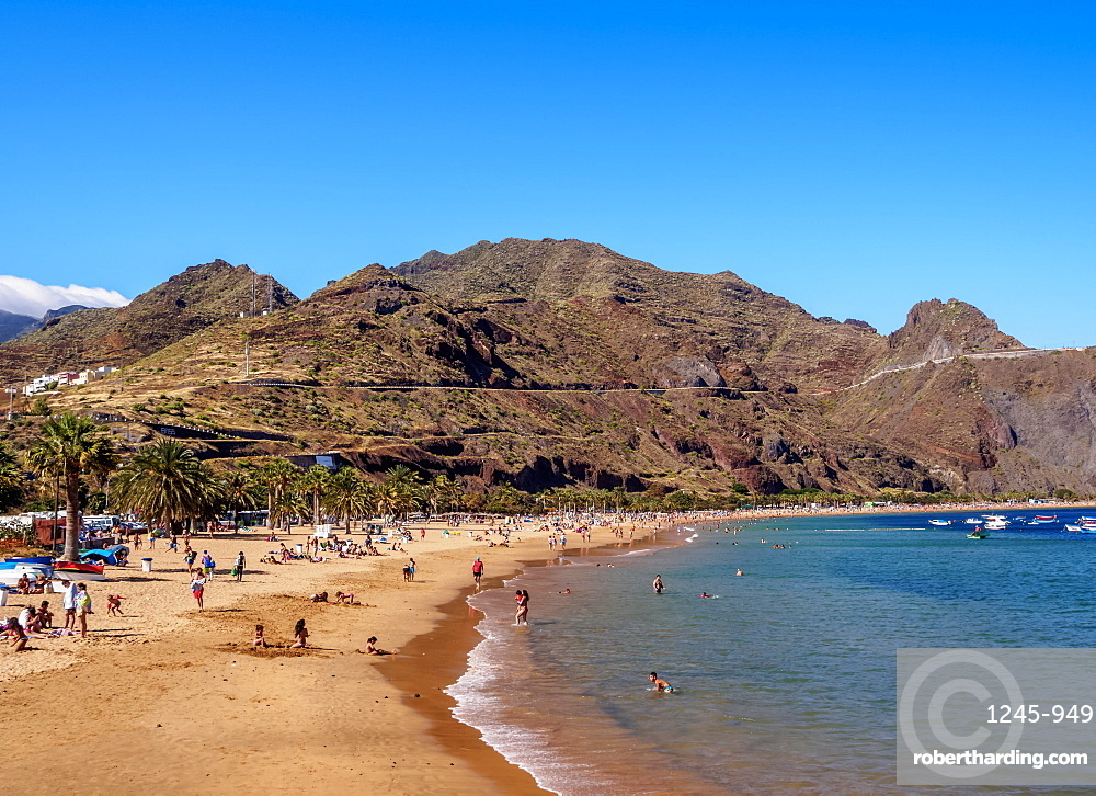 Las Teresitas Beach, San Andres, Tenerife Island, Canary Islands, Spain