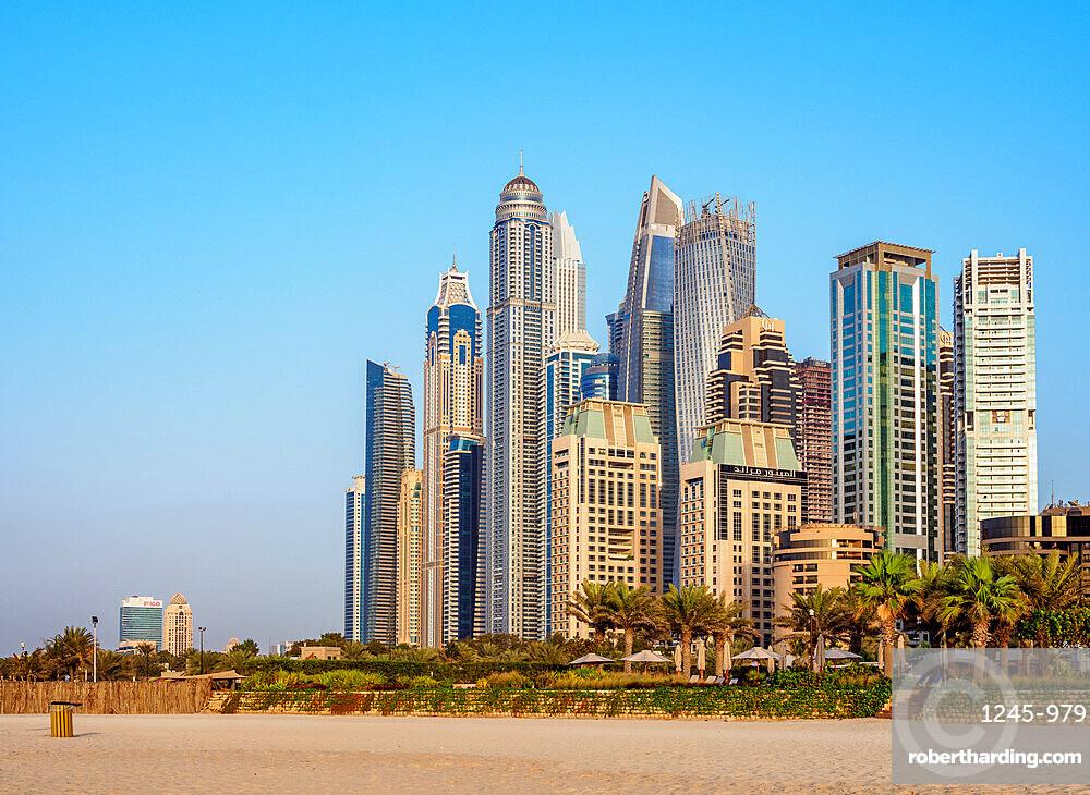 Dubai Marina JBR Beach, Dubai, United Arab Emirates, Middle East