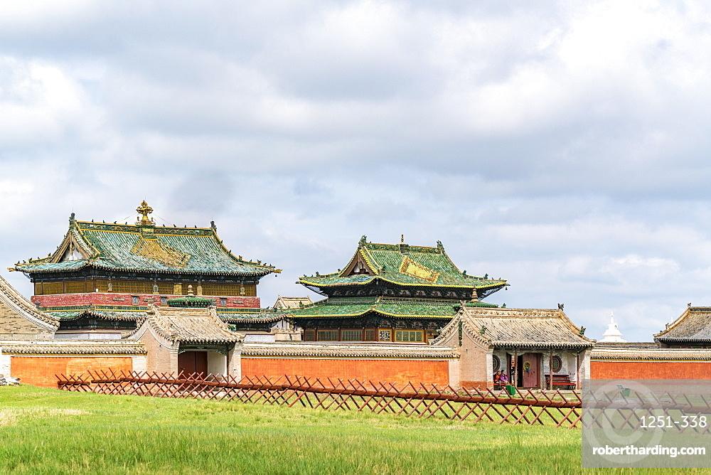 Temples in Erdene Zuu monastery. Harhorin, South Hangay province, Mongolia.