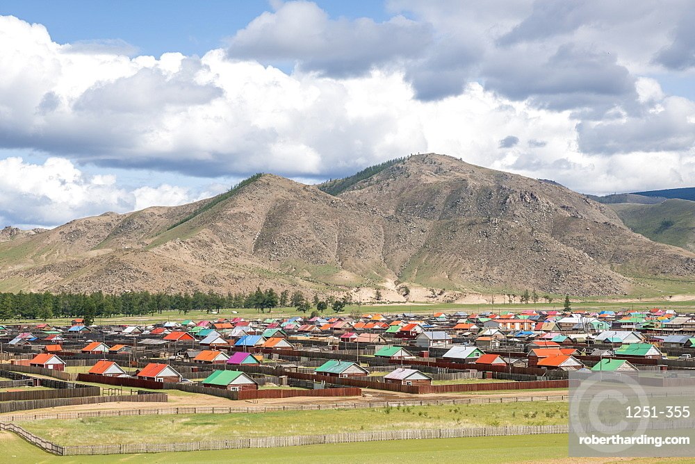 The town of Orgil, Jargalant district, Hovsgol province, Mongolia, Central Asia, Asia