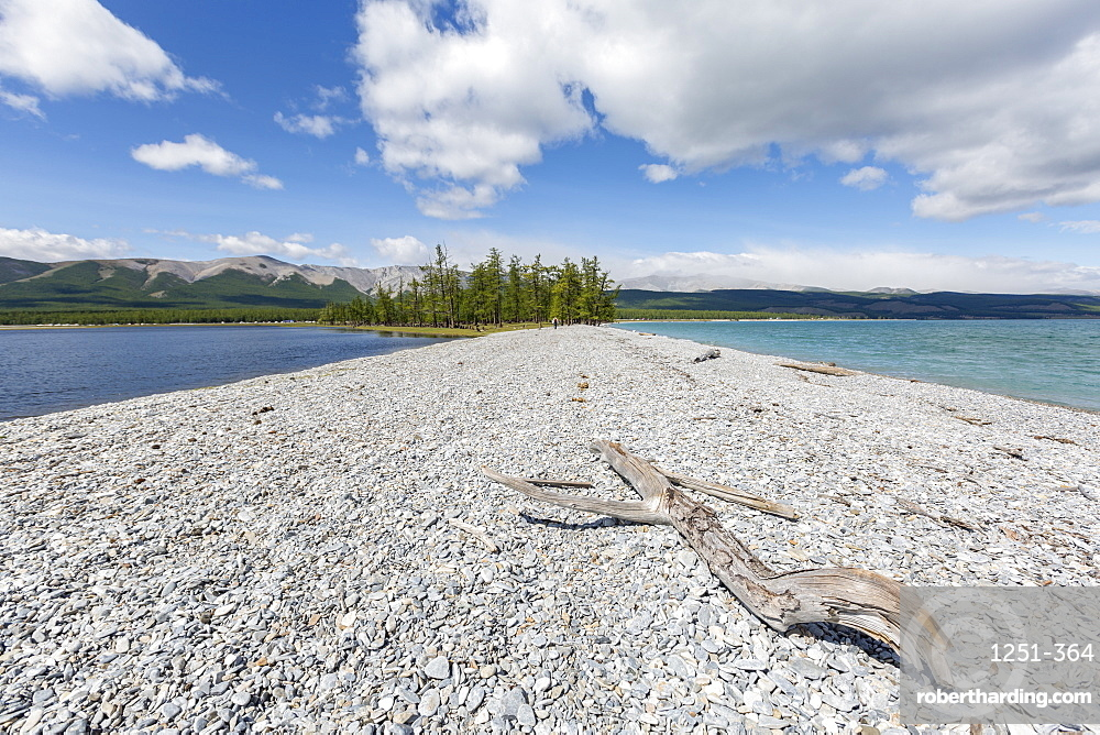 Pebble shores of Hovsgol Lake, Hovsgol province, Mongolia, Central Asia, Asia