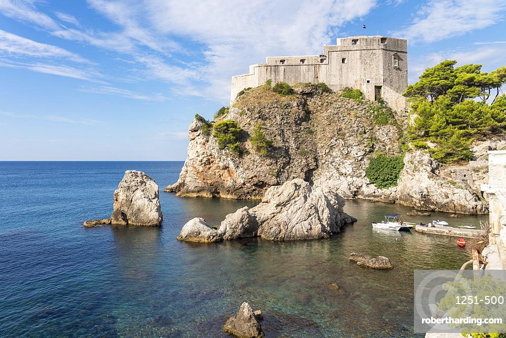 Fort Lovrijenac, or St Lawrence fortress, in summer. Dubrovnik, Dubrovnik - Neretva county, Croatia.
