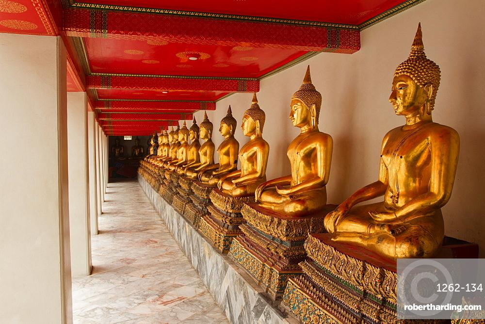 Buddhas of Wat Pho, Bangkok, Thailand, Southeast Asia, Asia