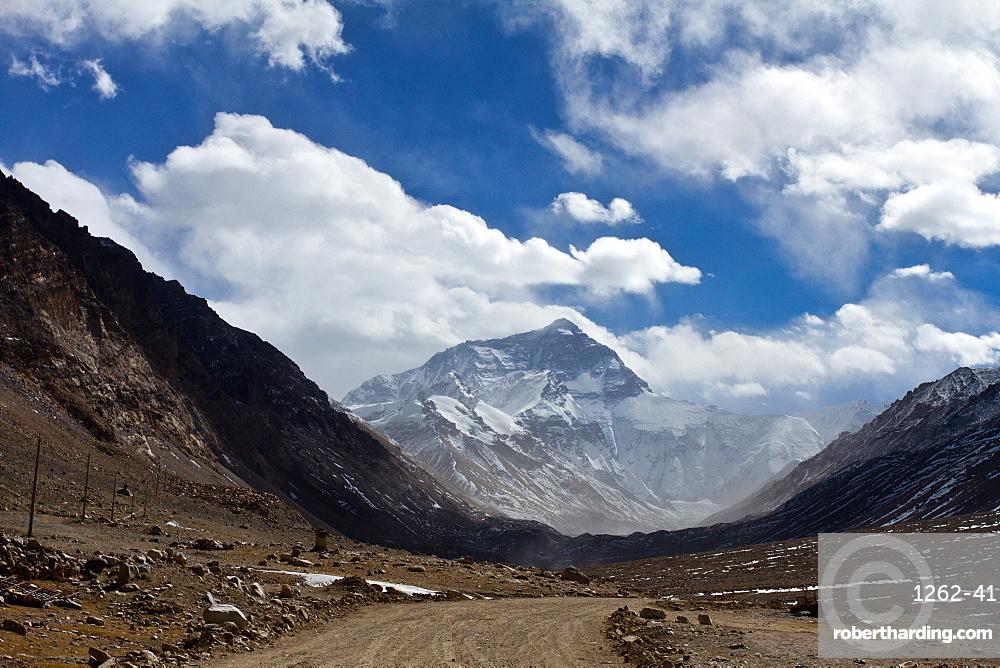 Mount Everest Base Camp on the Tibetan side, Tibet