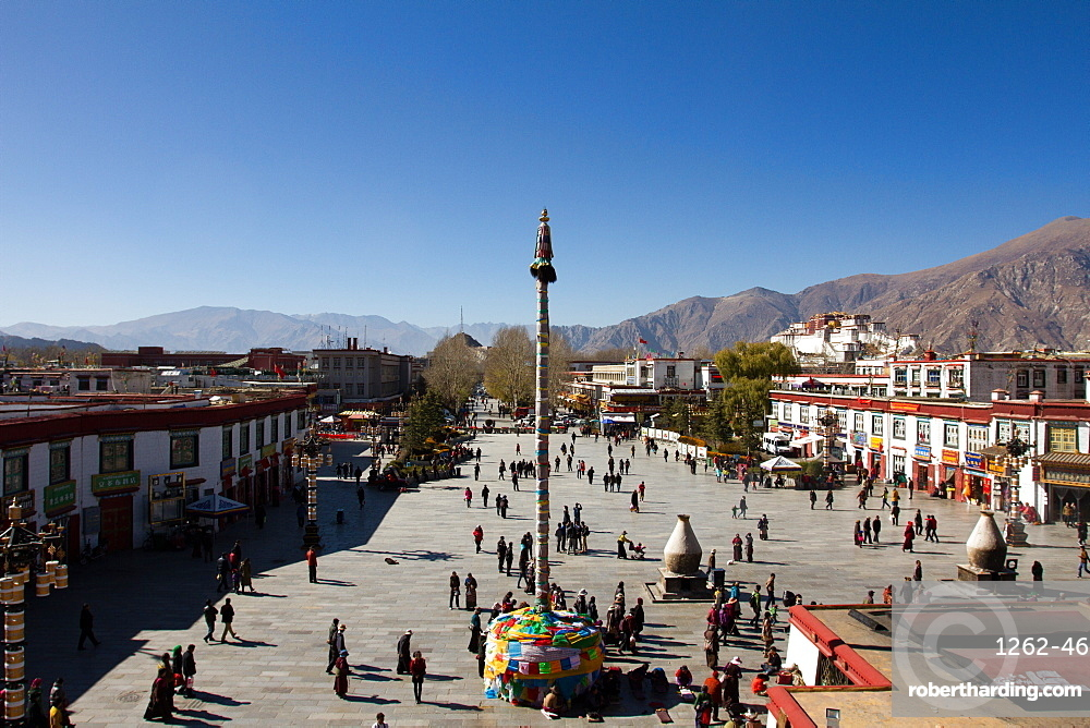 The Barkhor Square, Lhasa, Tibet, China, Asia