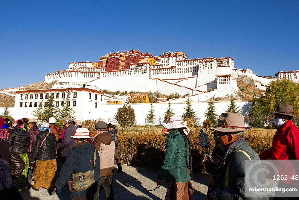 The Potala Palace of Lhasa, Tibet, true seat of His Holiness the 14h Dalai Lama
