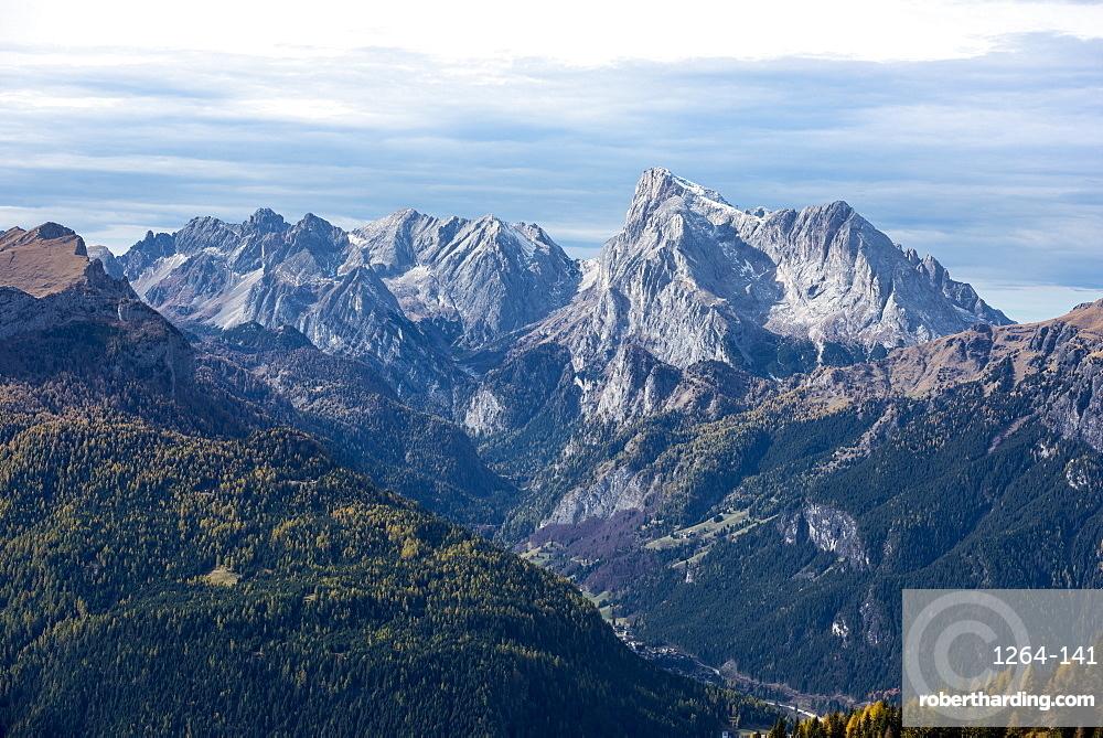 Marmolada in autumn, Dolomites, Veneto, Italy, Europe