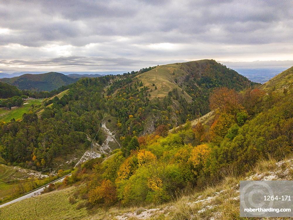 Apennines in autumn, Gubbio, Umbria, Italy, Europe