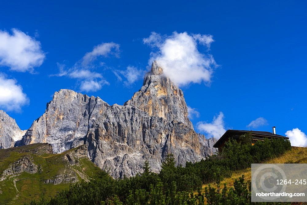 Rolle Pass, Cimon de la Pala, Dolomites, Veneto, Italy, Europe