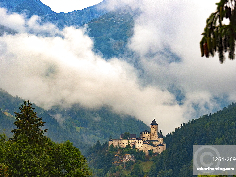 Castle Tures at sunrise, Campo Tures, Aurina Valley, Trentino-Alto Adige, Italy, Europe