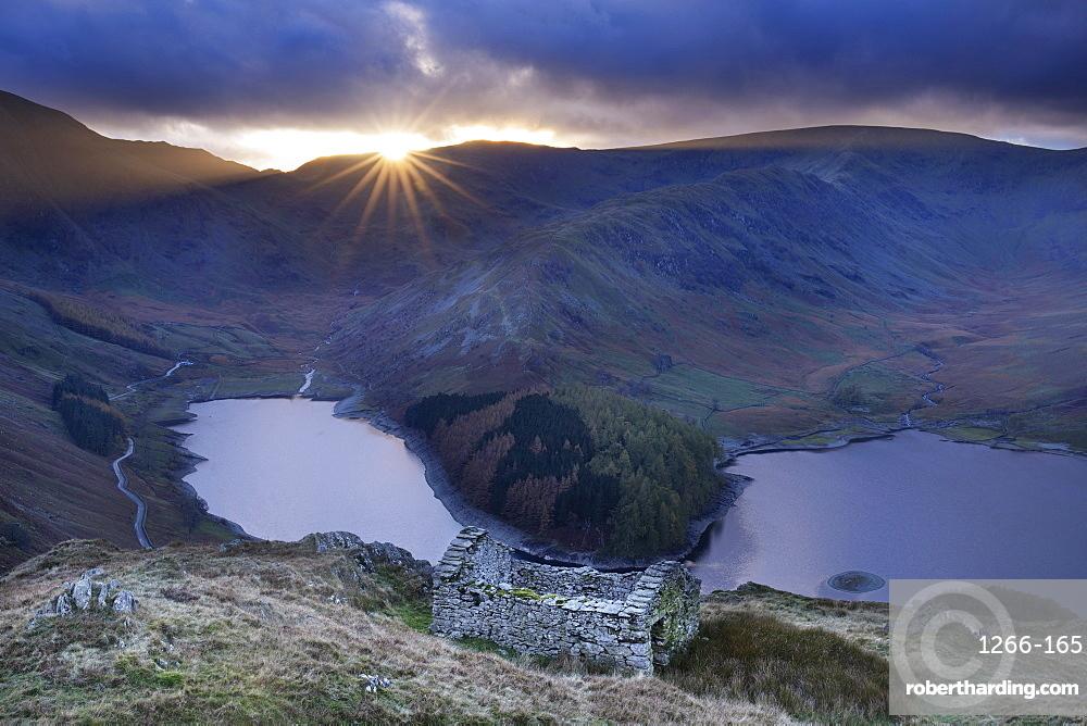 Haweswater reservoir at sunset, English Lake District, Cumbria