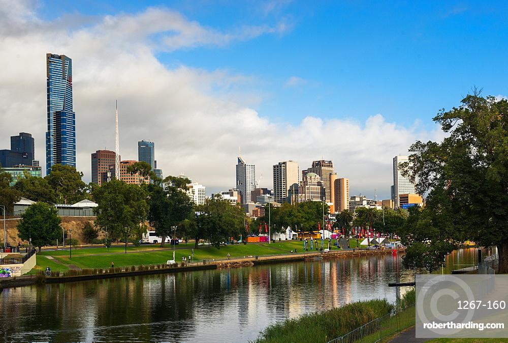 Melbourne city skyline over Yarra River, Melbourne, Victoria, Australia, Pacific