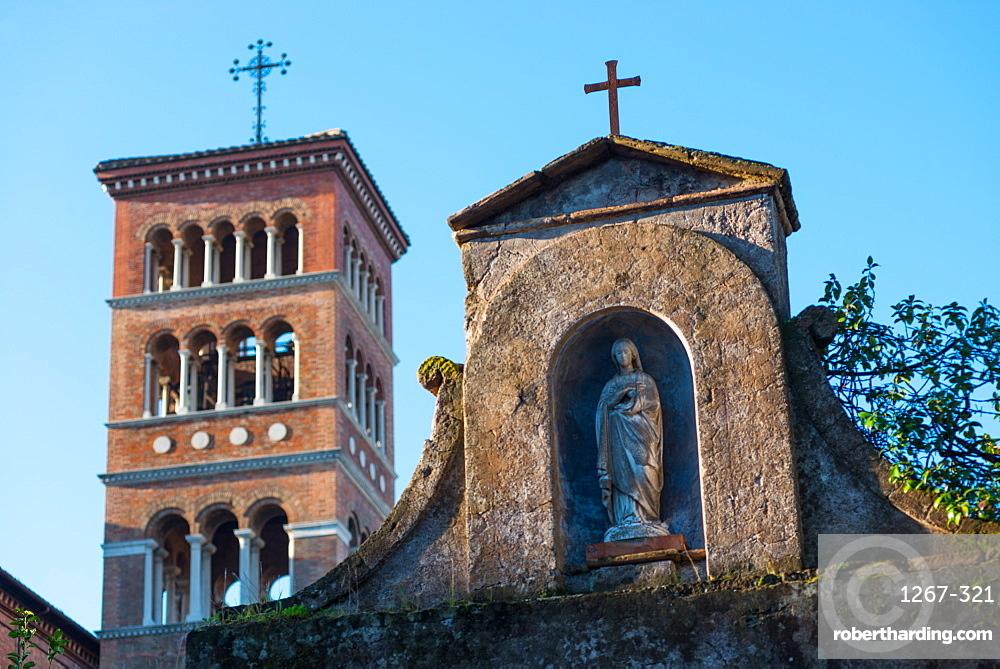 Church of Sant'Anselmo all'Aventino on the Aventine (Annexed to Benedictine College), Aventine Hill, Rome, Lazio, Italy, Europe