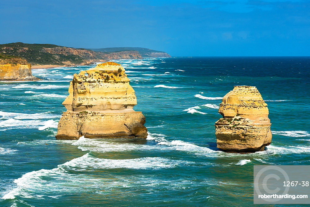 Two of the Twelve Apostles at Victoria's Great Ocean Road, Victoria, Australia, Pacific
