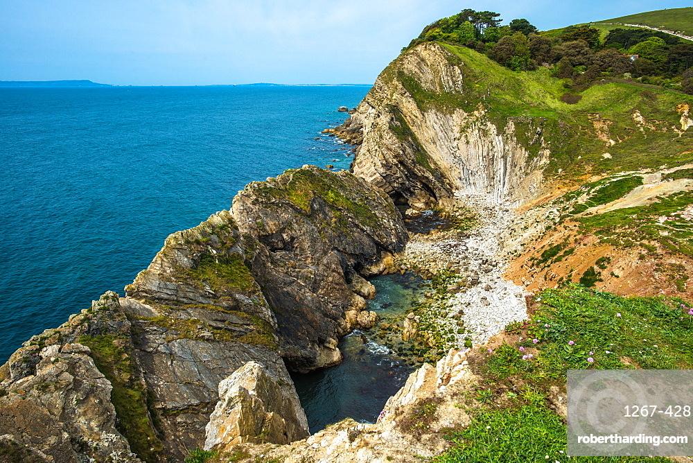 Stair Hole at Lulworth Cove on Dorset's Jurassic Coast, England, UK