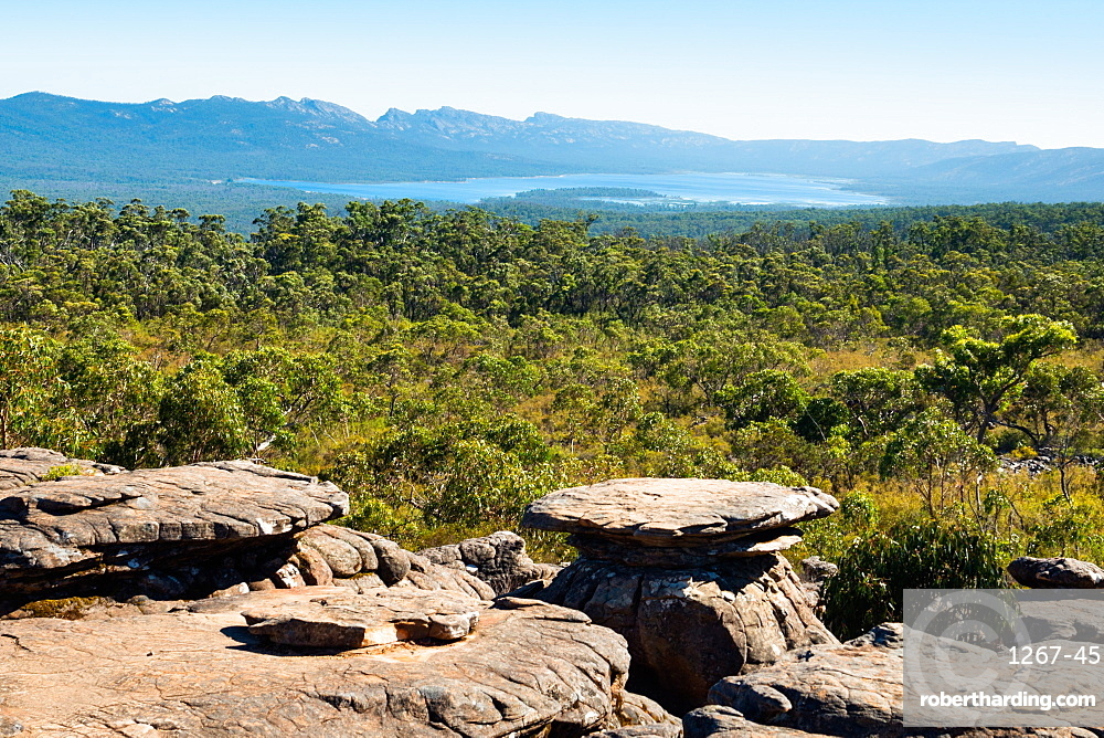 The Grampians National Park seen from Reed Lookout, Victoria, Australia, Pacific