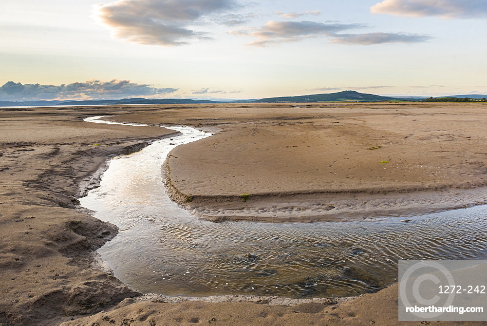 Morecambe Bay at sunset, Lancashire, England, United Kingdom, Europe