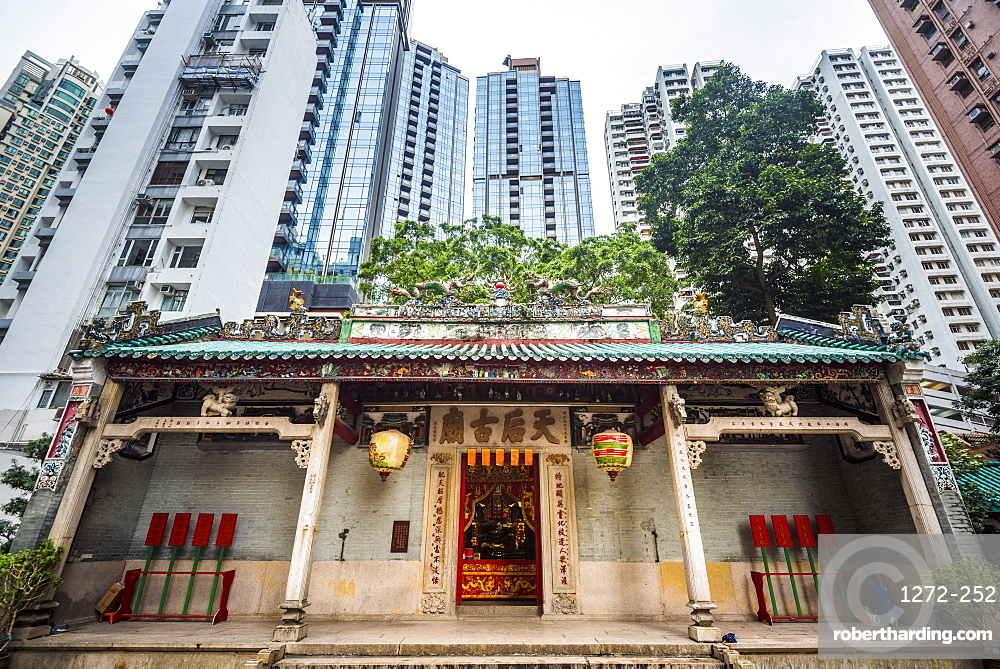 Tin Ha Temple, Causeway Bay, Hong Kong Island, Hong Kong, China, Asia
