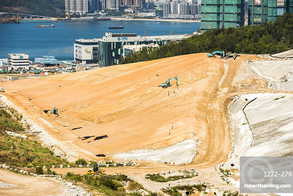 Landfill site, Kowloon, Hong Kong, China, Asia