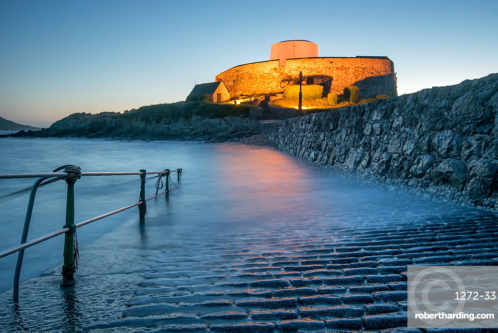 Fort Grey at twilight, Guernsey