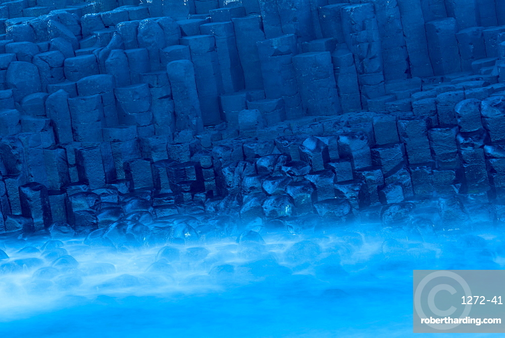 Basalt Columns at Giant's Causeway, UNESCO World Heritage Site, County Antrim, Ulster, Northern Ireland, United Kingdom, Europe