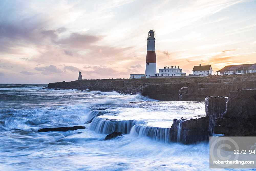 Lighthouse at Portland Bill, Isle of Portland, UNESCO World Heritage Site, Dorset, England, United Kingdom, Europe