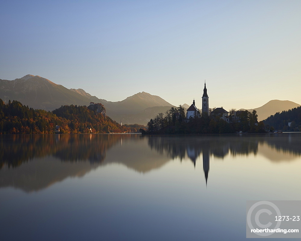 Sunrise, Lake Bled, Slovenia, Europe