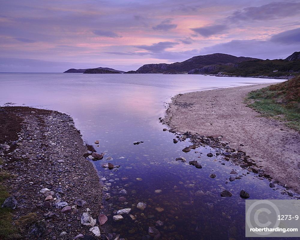 Dawn, Gruinard Bay, Wester Ross, Highlands, Scotland, United Kingdom, Europe