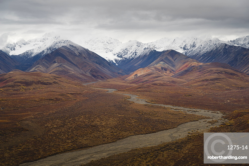 Polychrome Mountain range in Denali National Park, Alaska, United States of America, North America