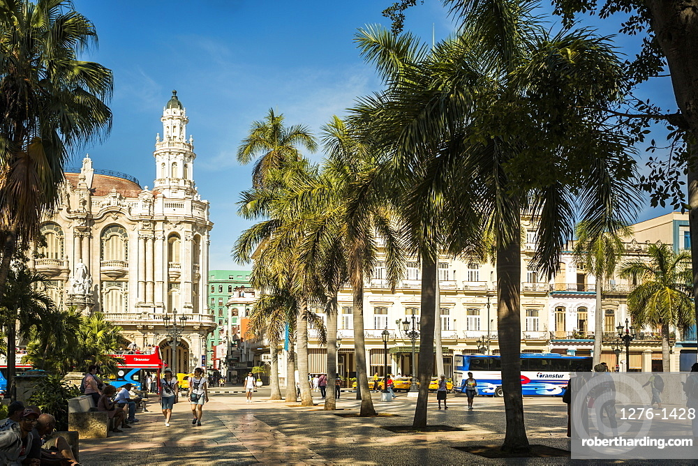 The Gran Teatro de La Habana and Parque Central in Havana, Cuba, West Indies, Caribbean, Central America