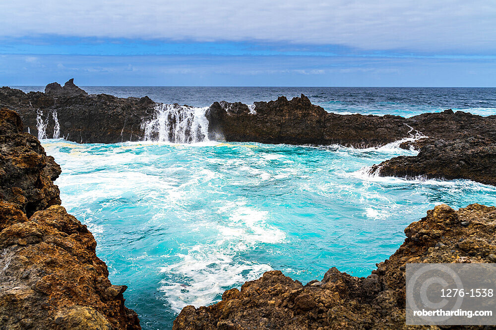 Natural swimming pool in Europe, Spain, Canary Islands, Tenerife