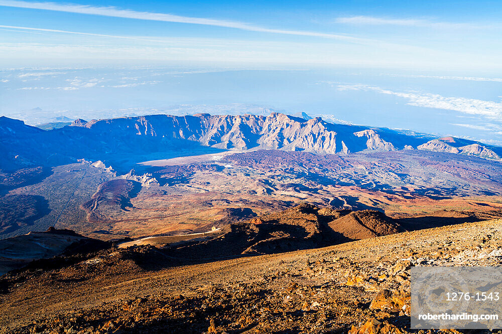 View of El Teide volcano national park in Tenerife, Canary Islands, Spain, Europe