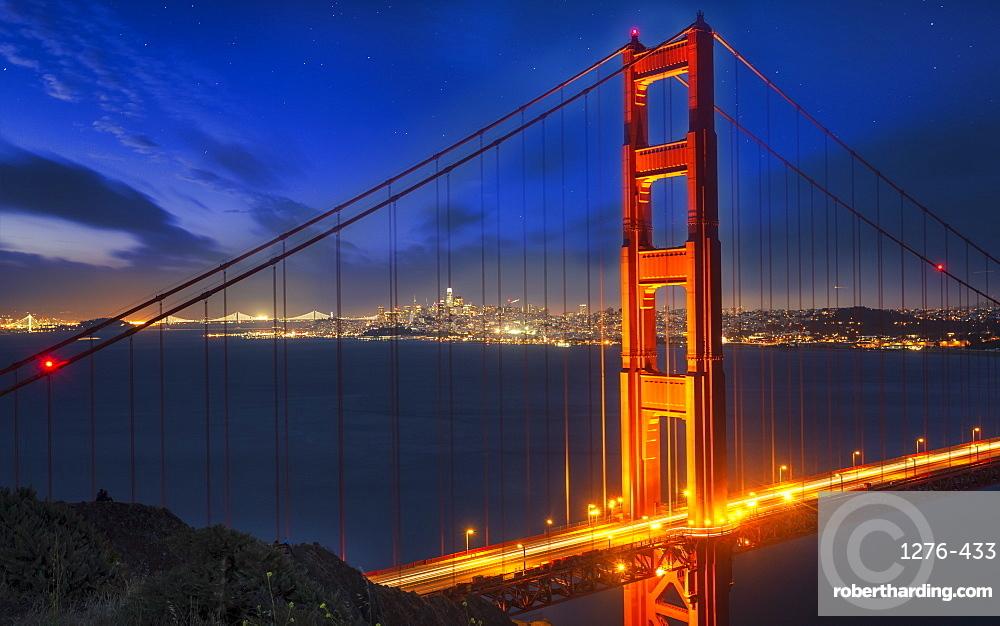 View Of Golden Gate Bridge Stock Photo