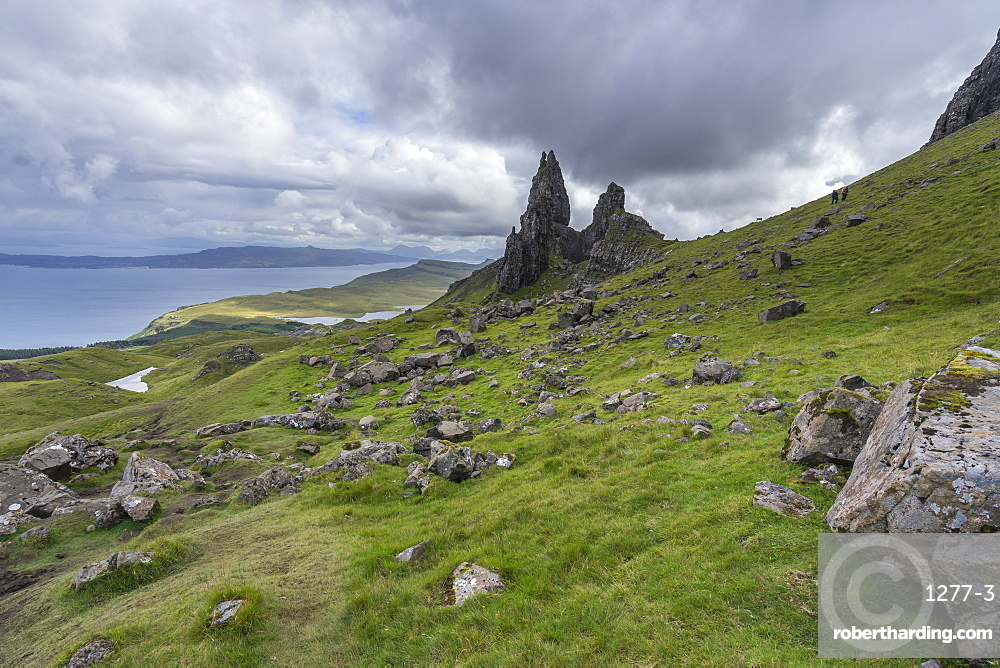 The Old Man of Storr, the most popular landmark of Isle of Skye, Scotland