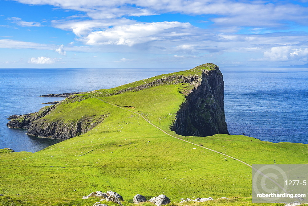 Neist point promontory, the most westerly point of Isle of Skye, Scotland