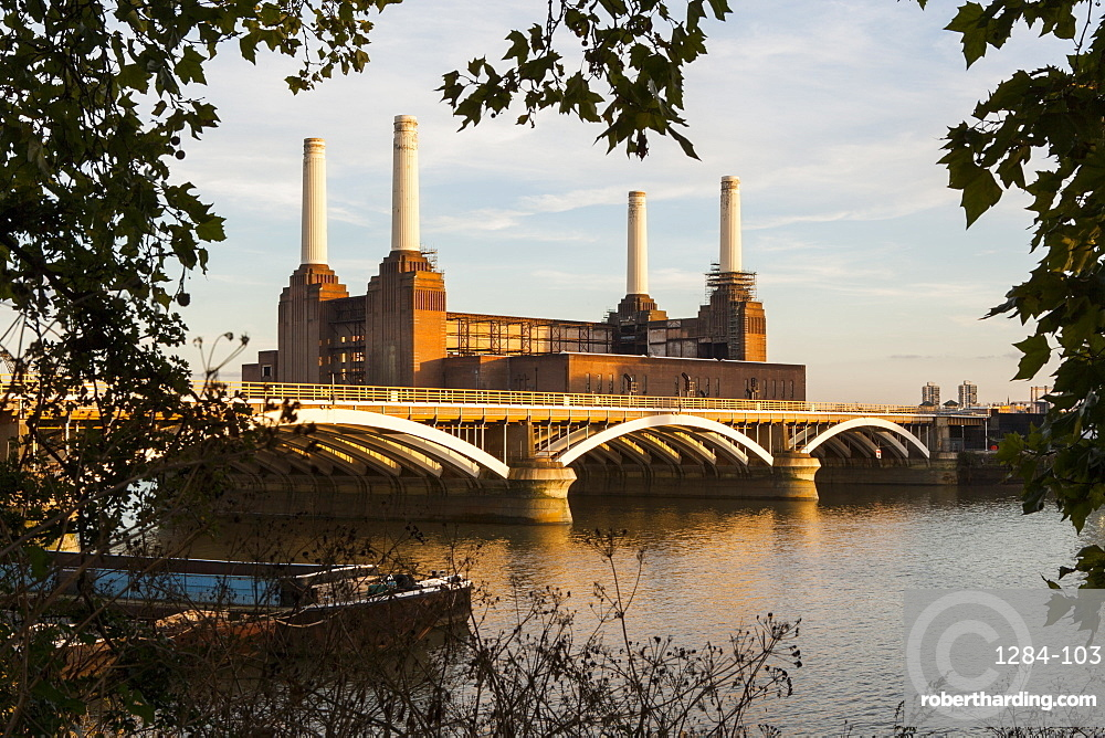 Battersea Power Station and Battersea Bridge, London, England, United Kingdom, Europe