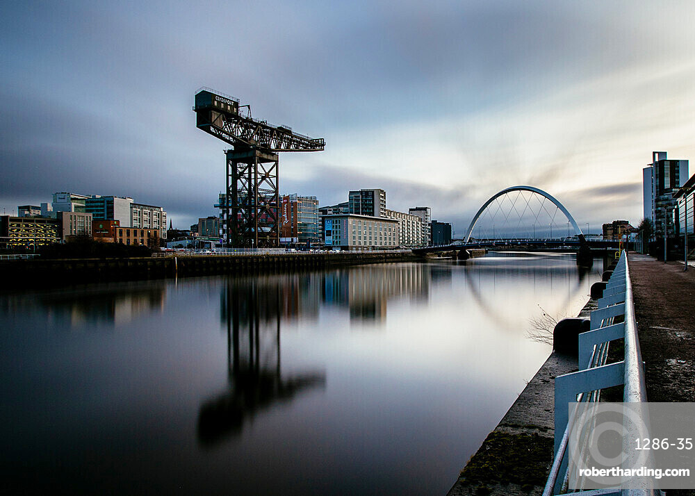 The Clyde Arc, River Clyde, Glasgow, Scotland, United Kingdom, Europe