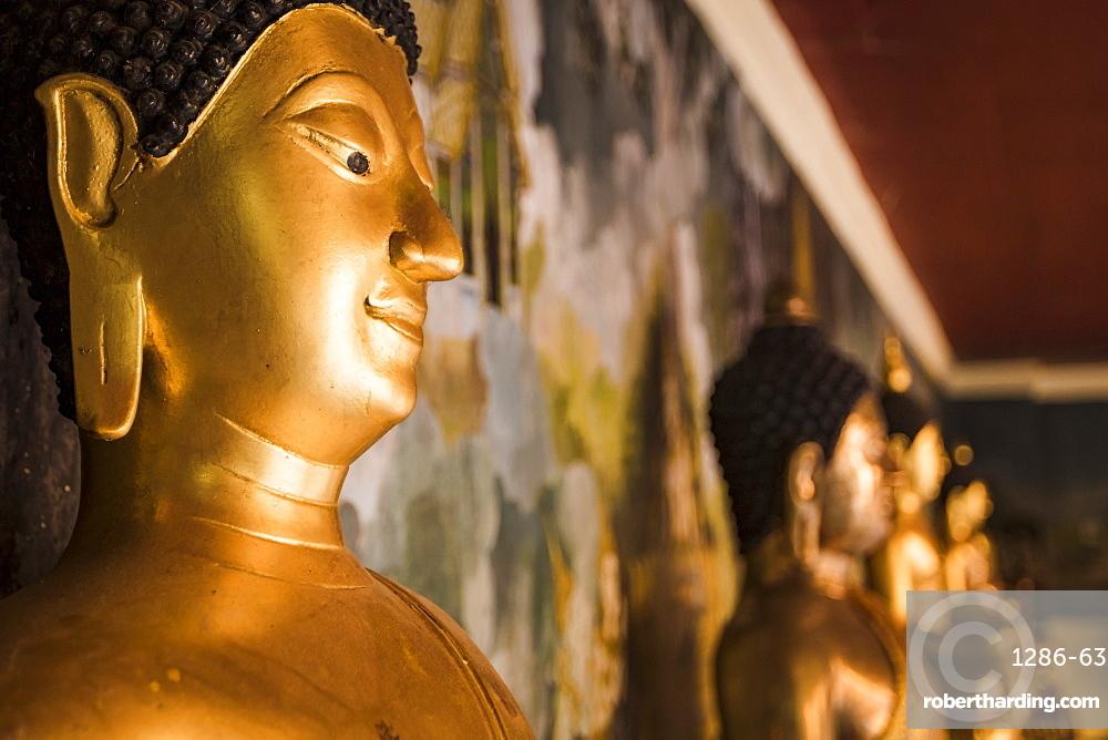 Buddha statues at Wat Phrathat Doi Suthep, Chiang Mai, Thailand, Southeast Asia, Asia